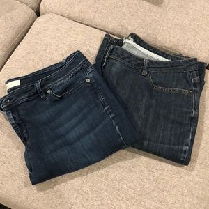 2 Pairs of Bootcut Jeans, 14 Tall